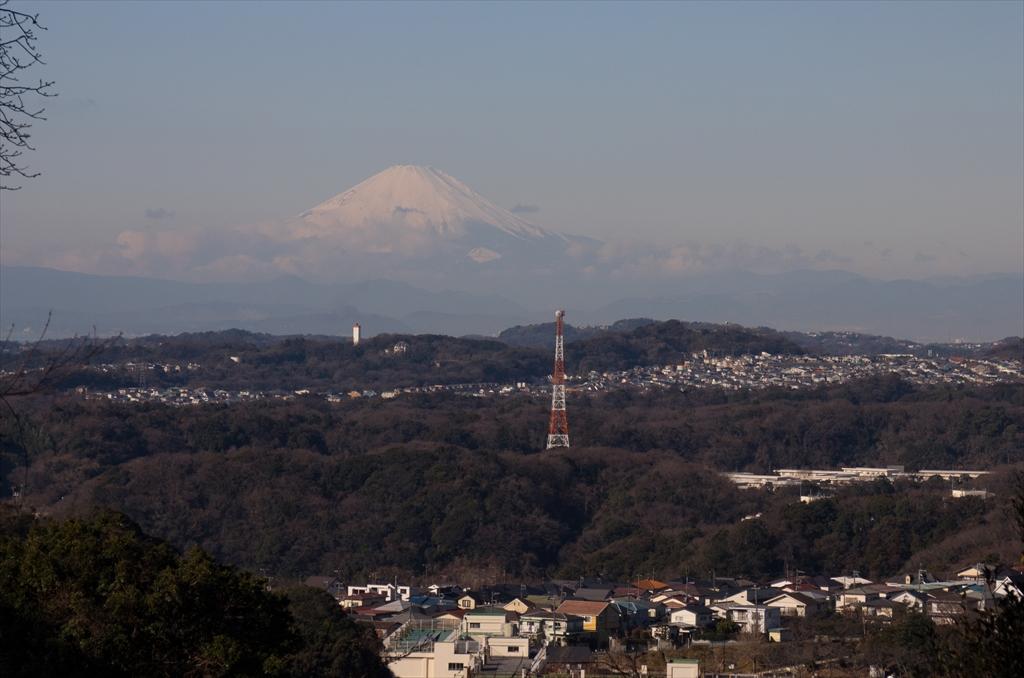 途中で見えた富士山