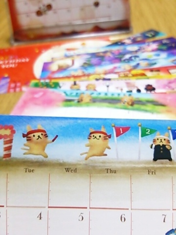 ねこたっぷり!卓上カレンダー(2017年1〜12月+おまけ1枚)_ちょこじろー