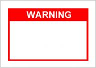 WARNINGの張り紙Template・フォーマット・雛形