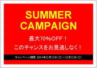 SUMMER CAMPAIGN POSTER TEMPLATE