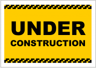 UNDER CONSTRUCTION POSTER TEMPLATE