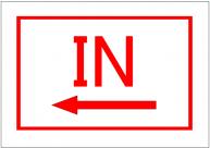 IN(左)の張り紙の書式・ひな形