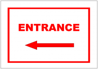 Entrance Left Sign Template