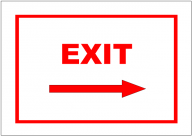 Exit Right Sign Template