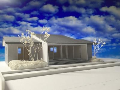 堀米の平屋 模型-3