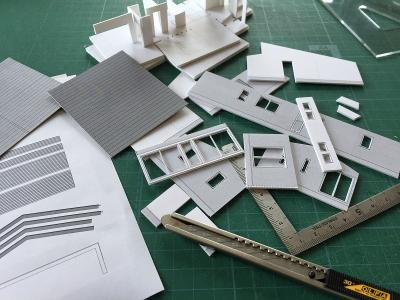 堀米の平屋 模型-a