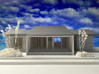 堀米の平屋 模型-2