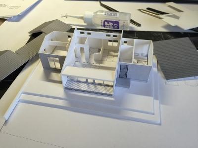 堀米の平屋 模型-b