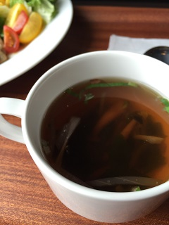 日和田カフェ 北極光 スープ