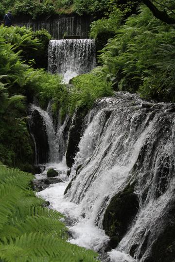 滝下の流れ