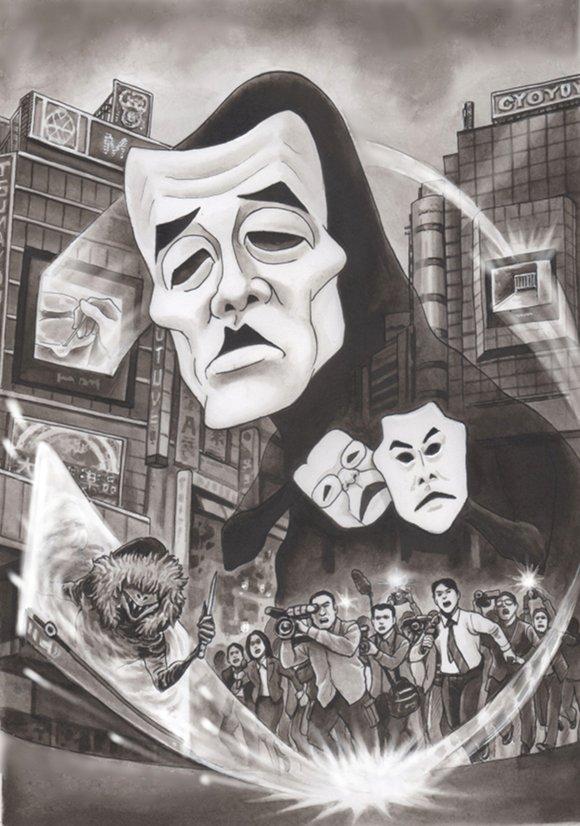 岡田克也民主党代表の風刺漫画