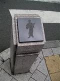 JR高円寺駅 阿波踊りの石柱1