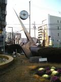 JR共和駅 イナズマデザインの時計台