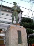 JR南部駅 働らく少年の像