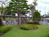 青い森鉄道三沢駅 県南地区造園組合創立10周年記念事業竣工記念碑 風景