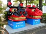 JR酒田駅 仔獅子「みなと」くん・「まい」ちゃん 2015年5月