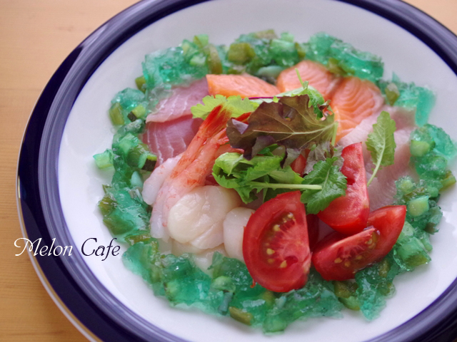 七夕に海のサラダ海鮮サラダ06