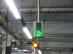 菊名3番線ホームドア表示器