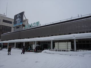 冬の青森駅