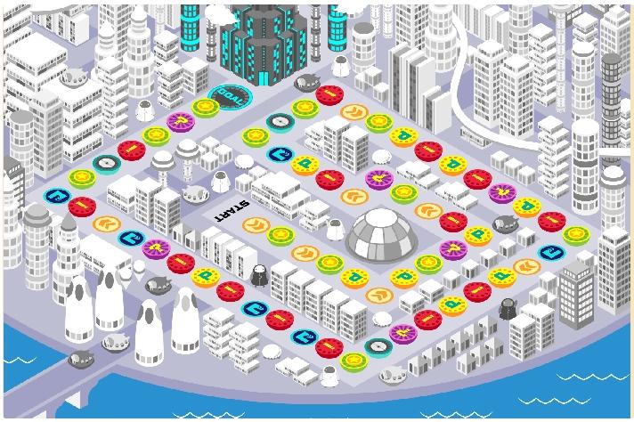 モバトク通帳 トックと僕らの未来都市 マップ00