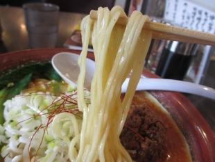 ふじの新津店 味噌担々そば 麺