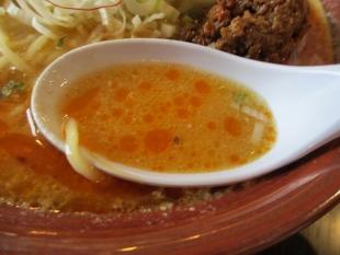 ふじの新津店 味噌担々そば スープ