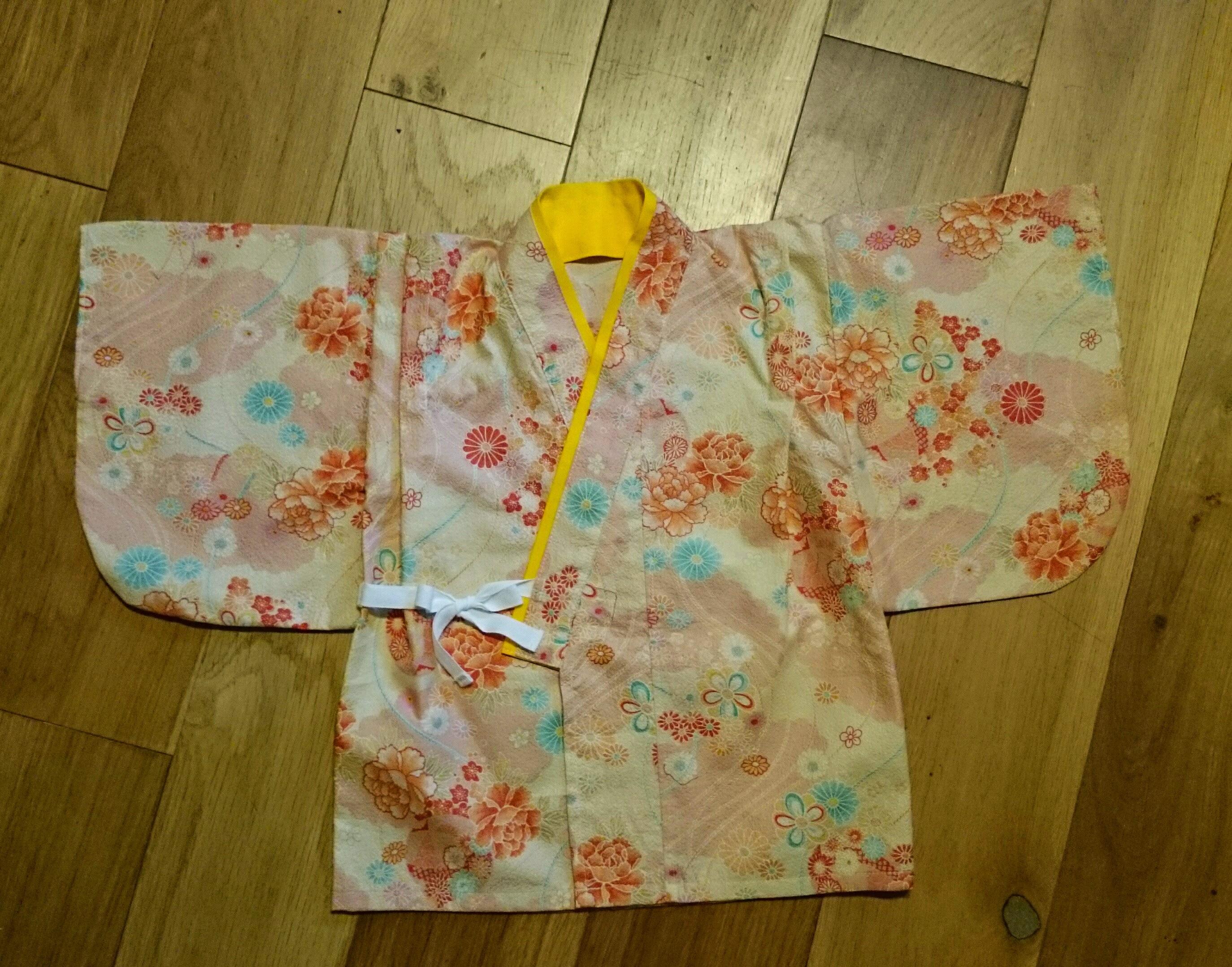 b11fcb95ac884 ひな祭りに、ベビー用袴風の服を手作りしてみました! - すきまじかんにハンドメイド|子供服とかダンボール工作とか