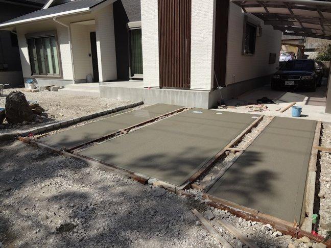 N瀬邸外構工事~駐車場舗装仕上げ