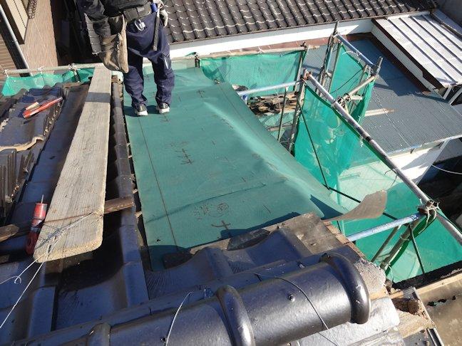 Oアパート改修工事~屋根補修・外装板張り下地